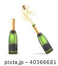 シャンパン シャンペン ビンのイラスト 40366681