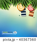 Abstract of summer vacation background with leaves 40367360