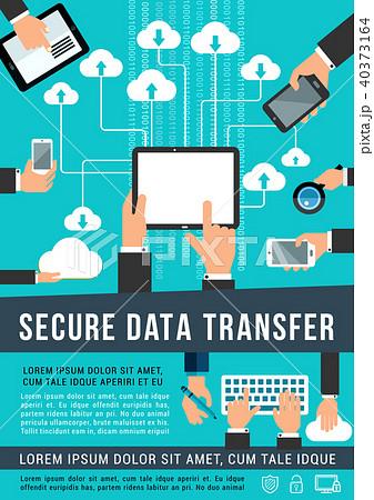 Secure data transfer data technology vector poster 40373164
