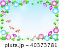 朝顔 夏 花のイラスト 40373781