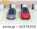 電気自動車 自動車 駐車場のイラスト 40376302
