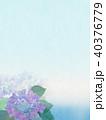 紫陽花 アジサイ 花のイラスト 40376779
