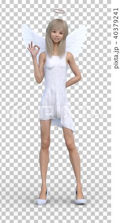 かわいい天使 フェアリー 妖精 perming3DCGイラスト素材 40379241