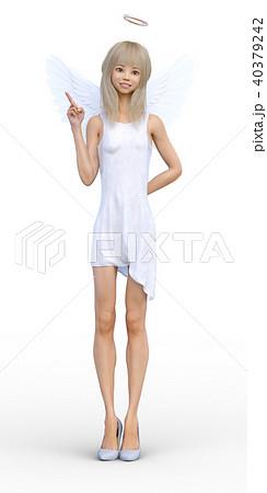 かわいい天使 フェアリー 妖精 perming3DCGイラスト素材 40379242