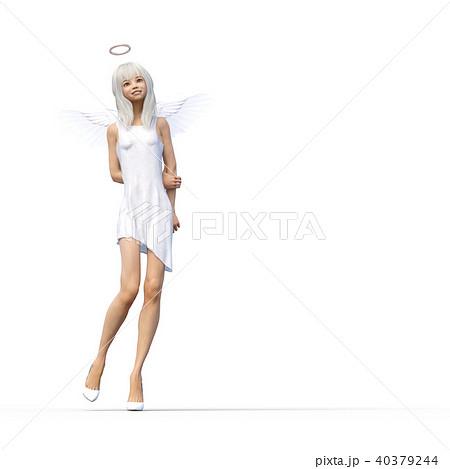 かわいい天使 フェアリー 妖精 perming3DCGイラスト素材 40379244
