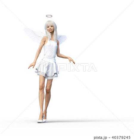 かわいい天使 フェアリー 妖精 perming3DCGイラスト素材 40379245