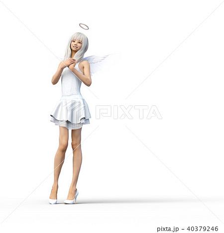 かわいい天使 フェアリー 妖精 perming3DCGイラスト素材 40379246