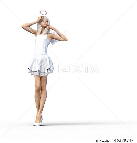 かわいい天使 フェアリー 妖精 perming3DCGイラスト素材 40379247