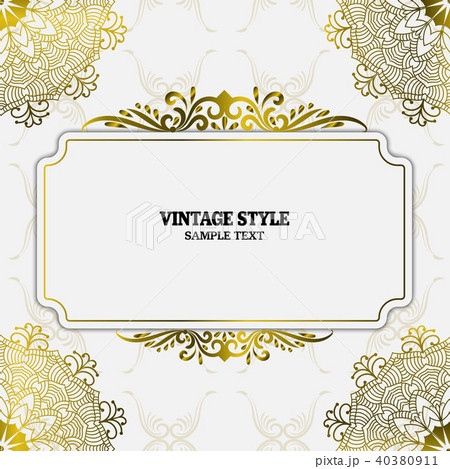 vector vintage decorations elements and framesのイラスト素材