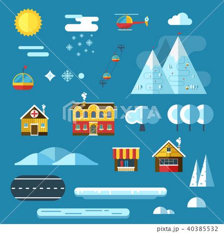 Winter Resort Landscape Creator Set 40385532
