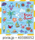 夏 サマー 南国のイラスト 40386052