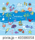 夏 サマー 南国のイラスト 40386058