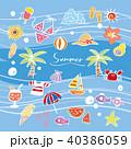 夏 サマー 南国のイラスト 40386059