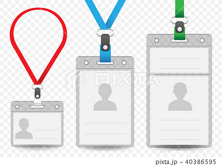horizontal and vertical badge templateのイラスト素材 40386595 pixta