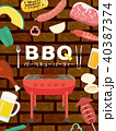 バーベキュー BBQ 40387374