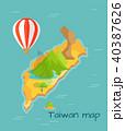 台湾 基隆 龍のイラスト 40387626
