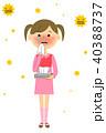 子供 女の子 ベクターのイラスト 40388737