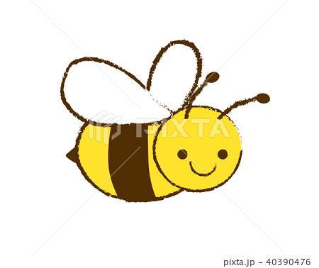 かわいい手描きミツバチのイラストのイラスト素材
