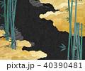 夜空に黄金の雲(和紙の風合い) 40390481