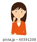 女性 若い 笑顔のイラスト 40391208