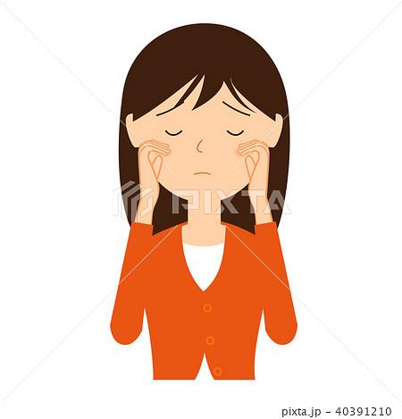 悲しんでいる若い女性のイラスト素材 40391210