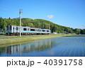 大糸線 ローカル線 田んぼの写真 40391758