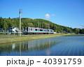 大糸線 ローカル線 田んぼの写真 40391759