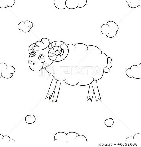 Fluffy sheep fly in the sky. 40392088
