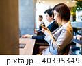 カフェ 喫茶店 人物の写真 40395349