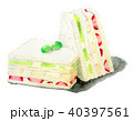 水彩 食べ物 フルーツサンドのイラスト 40397561