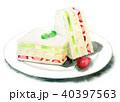 水彩 食べ物 フルーツサンドのイラスト 40397563
