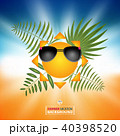 Abstract of summer background with sun bright  40398520