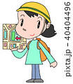 防災訓練 災害対策 女性のイラスト 40404496