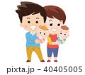双子の赤ちゃんとパパとママ 40405005