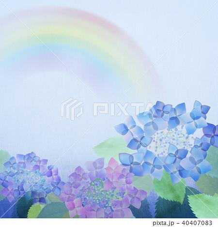 背景-紫陽花-虹 40407083
