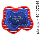 Cut Paper Background for Fourth of July Independence Day of the USA, American Nation Colors 40407246
