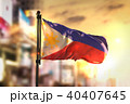 Philippines Flag Against City Blurred Background 40407645