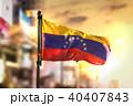 Venezuela Flag Against City Blurred Background 40407843