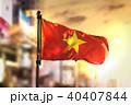 Vietnam Flag Against City Blurred Background 40407844