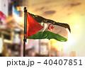 Sahrawi Flag Against City Blurred Background 40407851