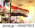 Yemen Flag Against City Blurred Background 40407853