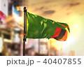 Zambia Flag Against City Blurred Background 40407855