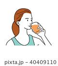 オレンジジュース ジュース 野菜ジュースのイラスト 40409110