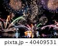 福井 敦賀 気比海岸 とうろう流しと大花火大会 花火大会を見物する人々 40409531