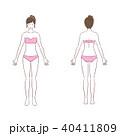 美容 ボディケア 女性のイラスト 40411809