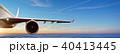 翼 飛行機 くもの写真 40413445