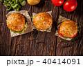 ハンバーガー グルメ アメリカンの写真 40414091