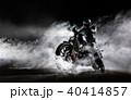 単車 バイク 煙の写真 40414857