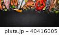 シーフード 海の幸 魚介類の写真 40416005