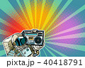 astronaut with Boombox, audio and music 40418791